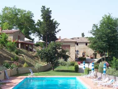 Volterra:casa rural con piscina, San Gimignano